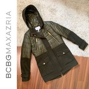 🆕 BCBG Wool Pea Coat w/ Drawstring Defined Waist